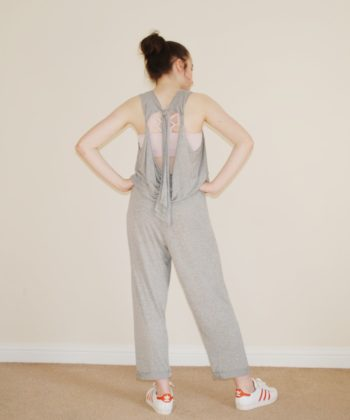 From fabric stash to cool and comfy outfit in no time! The Twist Strap Outfit gives you a ladies baggy jumpsuit sewing pattern and a bonus dress in XXS to 5XL.