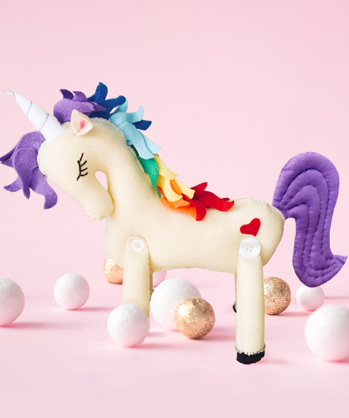 Delight in the whimsical wonder of this magical handsewn unicorn toy! This simply lovely pattern is completely stitched together by hand.
