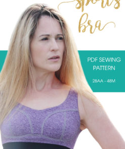 This beginner-friendly sports bra sewing pattern is an essential for your workout wardrobe. A comfy, sporty sew in sizes 28AA to 48M