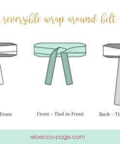 Make yourself the perfect finishing touch for your wardrobe with this wrap belt sewing pattern. This super quick sew comes in 13 sizes.