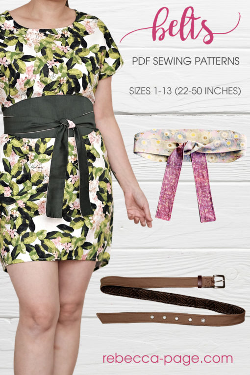 Make yourself the perfect finishing touches for your wardrobe with these belt sewing patterns. These super quick sews come in 13 sizes.