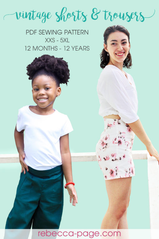 From summer to winter, these beautiful shorts and trousers are just a few seams away with these vintage-style sewing patterns.