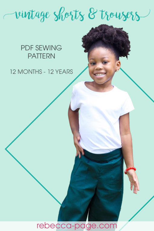 From summer to winter, these beautiful shorts and trousers are just a few seams away with this childrens vintage-style sewing pattern.