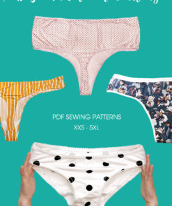 Whip up your everyday essentials in a matter of minutes with these thong and underwear sewing patterns in sizes XXS to 5XL.