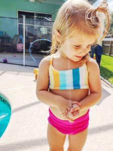 Mix and match your favorite options for a gorgeous two-piece swimsuit. This childrens two piece swimsuit sewing pattern comes in sizes 12 months to 12 years.