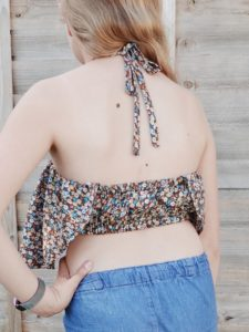 The Bandeau Top: A quick gorgeous sew for those hot summer days. This ladies crop top sewing pattern comes in sizes XXS to 5XL
