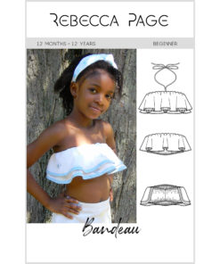The Bandeau Top: A quick gorgeous sew for those hot summer days. This children's crop top sewing pattern comes in sizes 12 months to 12 years