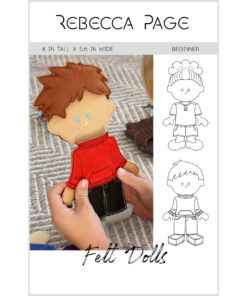 A quick and customizable felt dolls sewing pattern for hours and hours of fun! You can even sew your dolls a matching RP wardrobe!