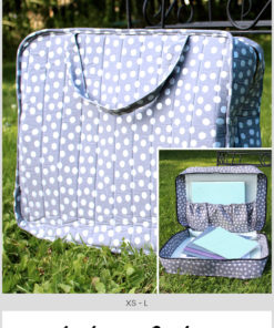 Sew a mini vintage-style suitcase for toys and other small goodies with this incredibly versatile pattern. Use your scraps and other fun trims for a cute case.