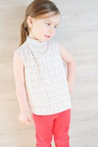 The Brielle Blouse is a loose-fitting children's blouse pattern that is simply perfect for drapey fabrics. Classic and fashionable at the same time!