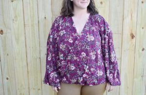 Neve is a stunning ladies wrap blouse sewing pattern. It's an exquisitely simple sew suitable for both knits and wovens that you'll love.