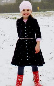 """The words """"simply"""" and """"beautiful"""" take shape in Sofia, the girls shirt dress sewing pattern. Add her to your pattern collection now!"""