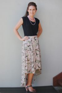 Flowy and fabulous, the ladies high low skirt sewing pattern gives you HIGH impact with LOW effort! A really quick sew with maximum wow factor!