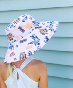Sew the whole family some sun protection with this wide or narrow-brimmed sun hat sewing pattern in sizes 13 to 24 inches.