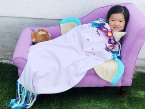 Add some snuggly magic to your life with this whimsical unicorn blanket sewing pattern. Magic blanket tails for everyone, including the dolls.