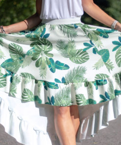 This 5-panel high low skirt pattern, with optional pockets, is a beginner-friendly statement sew in sizes XXS to 5XL