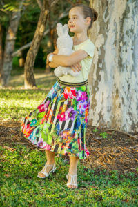 This 5-panel high low skirt pattern is a beginner-friendly statement sew in sizes 12 months to 12 years