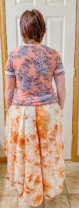 This 5-panel high low skirt pattern is a beginner-friendly statement sew in sizes XXS to 5XL