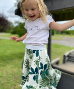 This 5-panel children's high low skirt pattern is a beginner-friendly statement sew in sizes 12 months to 12 years