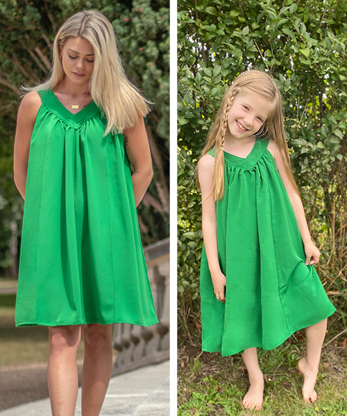 Sew some fresh summery style with this everyday essential. The Yoke Dress pattern has 3 lengths and comes in sizes XXS-5XL and 12mos-12yrs.