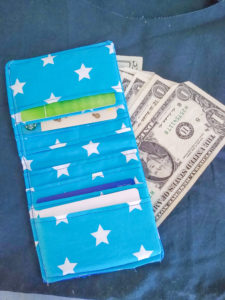 Use your scraps to sew your very own custom wallet with eight card slots and an optional bill divider. Keep your cards, ID, receipts and bills together with his bifold wallet sewing pattern.
