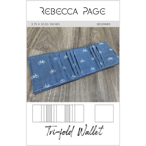 Use your scraps to sew your very own custom wallet with nine card slots and an optional bill divider. Keep your cards, ID, receipts and bills together with his trifold wallet sewing pattern.