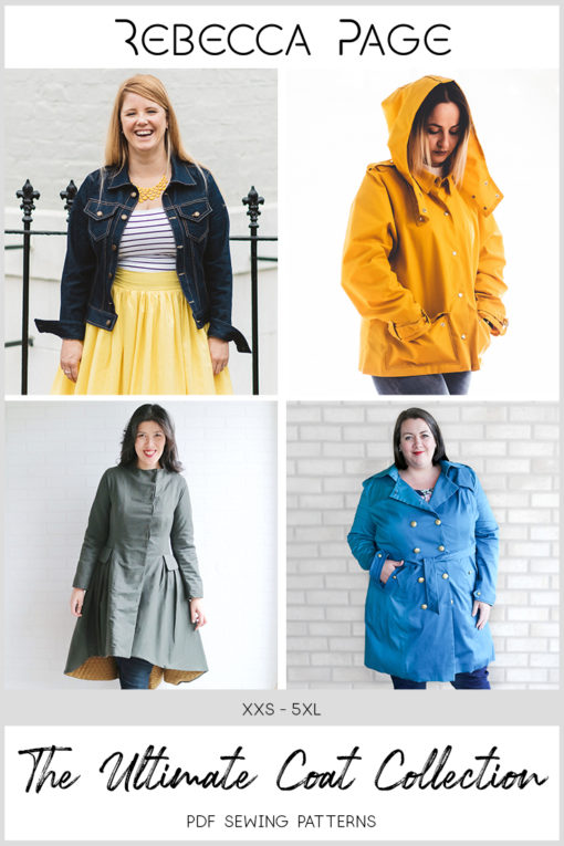 Add to your coat collection with these gorgeous sews! With four different jacket and coat sewing patterns in sizes XXS to 5XL and loads of options, this is the ultimate coat collection!