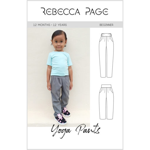 Sew this deliciously comfy yoga pants pattern with pockets! Includes sizes 12 months to 12 years