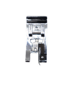 A snap on presser foot that is compatible with most domestic sewing machines