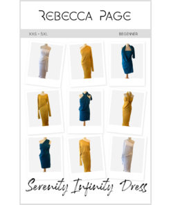 A simple sew bursting with comfort, style, and options! This women's infinity dress sewing pattern is the ultimate wardrobe staple, and comes in sizes XXS to 5XL.