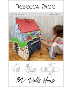 Create a delightful family treasure with the 3D Dolls House sewing pattern! The two-storey house or castle is a great scrap buster and interactive play experience!