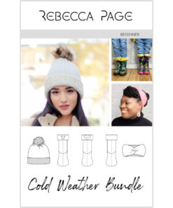 Grab this bundle of quick cold weather sewing patterns and keep warm all winter long, from your head to your toes!