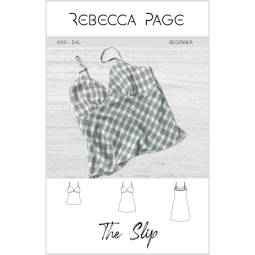 Learn how to sew a versatile wardrobe staple with this slip sewing pattern; features three length options and sizes XXS-5XL, and cup size A-M