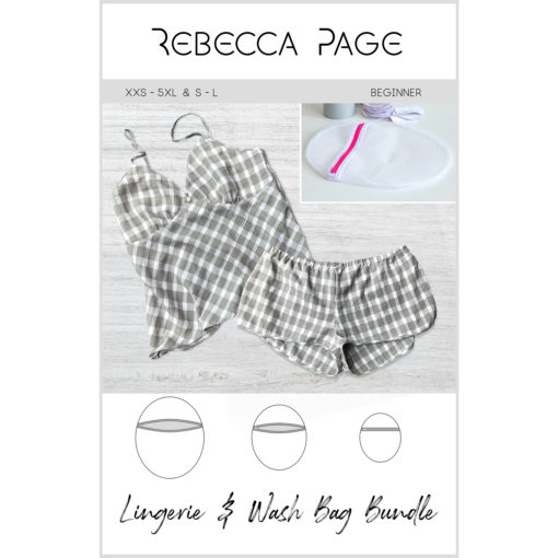 Build your closet with these three wardrobe basics sewing patterns from Rebecca Page... the Slip, Lingerie Shorts, and Lingerie Wash Bag