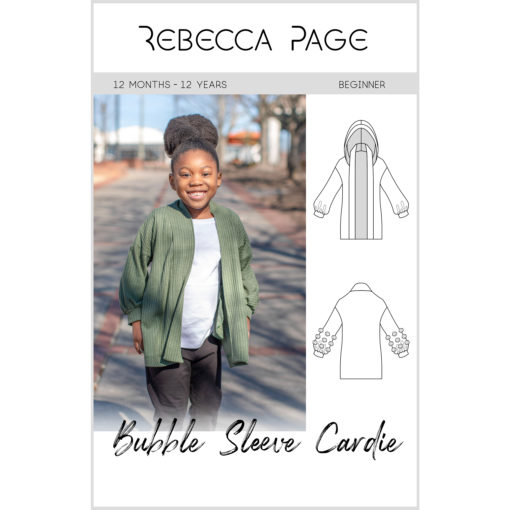 Go big with this children's Bubble Sleeve cardigan! Big on style, features, and comfort, the gorgeous sewing pattern comes in sizes 12 months to 12 years.