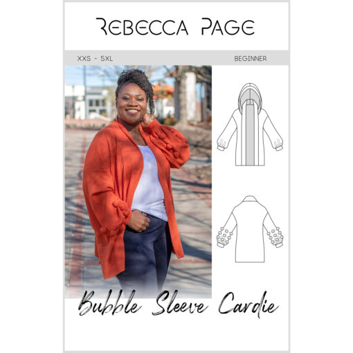Go big with this women's Bubble Sleeve cardigan! Big on style, features, and comfort, the gorgeous sewing pattern comes in sizes XXS to 5XL