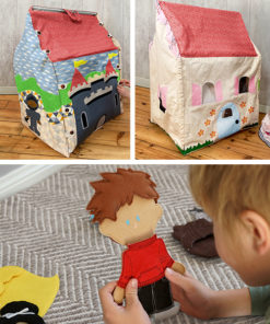 Create a delightful family treasure and hours of playtime fun with the Doll House Bundle! Includes the 3D Dolls' House and Felt Dolls Sewing Patterns.