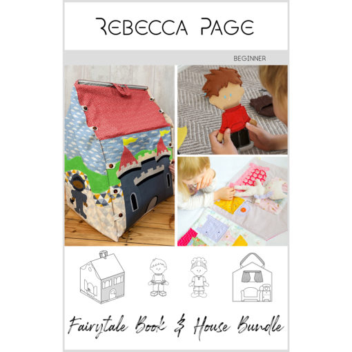 Create a delightful collection of family treasures and hours of playtime fun with the Fairytale Book & House Bundle sewing patterns!