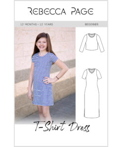 Sew the ultimate wardrobe staple with the childrens tshirt dress sewing pattern. Loads of options and it comes in sizes 12 months to 12 years.