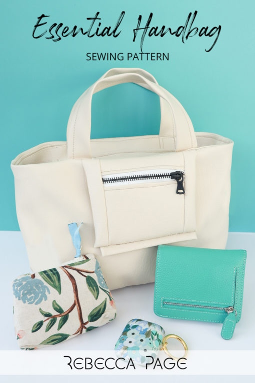 The handbag sewing pattern of your dreams is here! The Essential Handbag is beautiful, practical, and easy to sew.