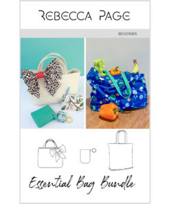 Sew an essential bag set with these two beautiful and practical bag sewing patterns... The perfect bag pattern bundle for all your needs!