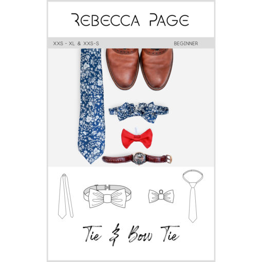 A quick, easy sew for a classic finishing touch and pop of personality, the Tie & Bow Tie sewing pattern fits children, adults, and pets!