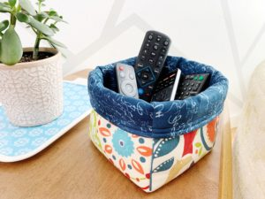 This Fabric Baskets sewing pattern is perfect: decorative and practical. Tidy up or give your fav plant a bright new home in under 60 minutes