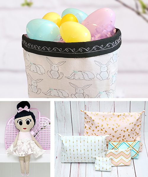 For a memorable, handmade treat that is quick to sew, this bundle of Easter sewing patterns is the perfect spoil for your little ones