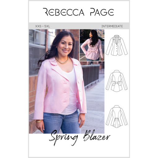 Sew a statement piece for spring! A light blazer with beautiful features and loads of options, the Spring Blazer is a pattern you will use over and over again it and comes in sizes XXS to 5XL