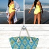 Sew your perfect beach day outfit! Everything you need for a relaxing summer day: a swimsuit, a cover up, and a bag to carry everything else!
