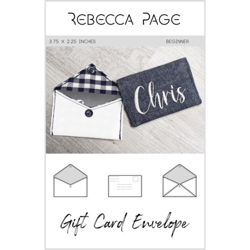 Sew sustainable fabric envelopes and gift wrapping for small gifts with the Gift Card Envelope Sewing pattern