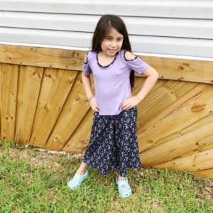 Sew a pair of super quick and easy on-trend bottoms with the brand-new childrens culottes sewing pattern! Available in sizes 12 months to 12 years.