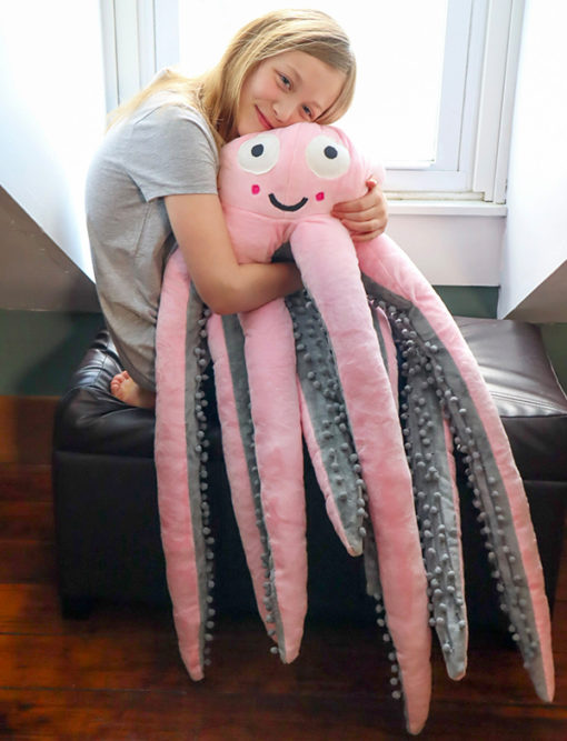 Sew the sweetest snuggle buddy… or a ferocious sea beast! With a bunch of options this giant octopus toy sewing pattern will make the stuffed toy of your kidlet's dreams!