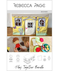 Create a whimsical and interactive heirloom playtime adventure with this beautifully-curated collection of delightful playset sewing patterns